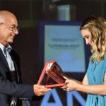 Andrea Portante RAI Gold premia Carolina Crescentina