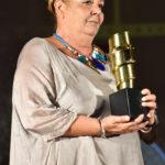 Tiziana Diamanti ritira il premio per il fratello Roberto Diamanti