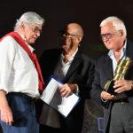 da Sx. Blasco Giurato Direttore della Fotografia Stefano Masciarelli e Maurizio Amati produttore