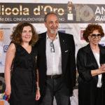 da sx il Sottosegretario di Stato Mibac Maria Laura Orrico Enzo De Camillis e lattrice Giovanna Ralli