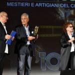 da sx. Stefano Masciarelli Francesco Rutelli presidente Anica e lattrice Giovanna Ralli.