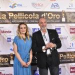 attrice Carolina Crescentini con il presidnte de La Pellicola dOro Enzo De Camillis