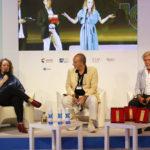 da sx. Cristina Priarone Presidente dellaFilmCommission Nazionale Enzo De Camillis Stefano Nicolao della Sartoria Nicolao di Venezia